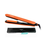 Xenia Paris Fairytale Bliss 1 Inch Silicone Grip Hair Straightening Flat Iron (Orange)