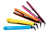 "Xenia Paris Fairytale Bliss, Silicone Grip Hair Straightening Flat Iron, 1"" H, Yellow"