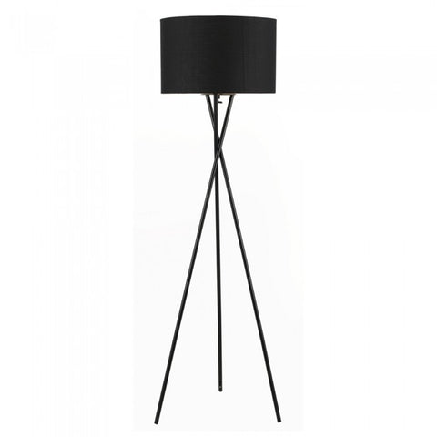 "Euro Style Collection Lisboa 63"" Tripod Floor Lamp-Black"