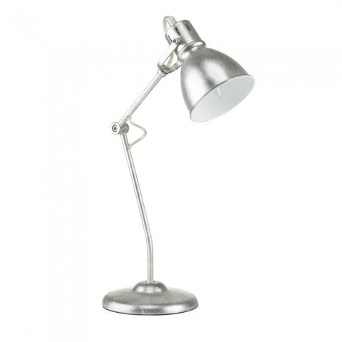 "Euro Style Collection Lyon 18"" Industrial  Modern Table Lamp Silver"