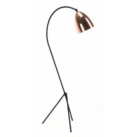 "Euro Style Collection Denmark Tripod 63"" Floor Lamp-Copper"
