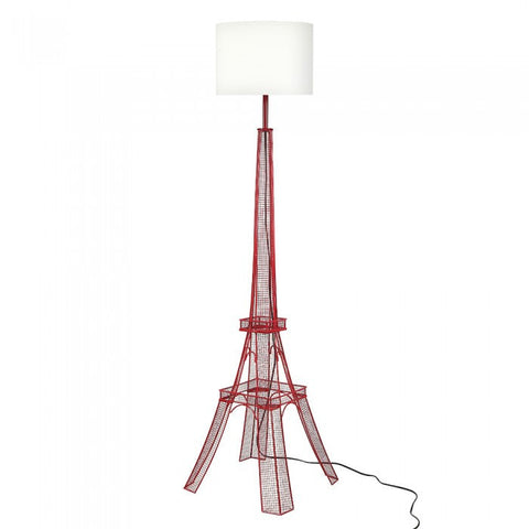 "Euro Style Collection Eiffel Tower 65"" Torchiere Floor Lamp - Red"