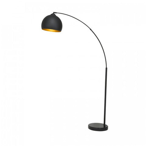 "Euro Style Collection Munich 69"" Arched Floor Lamp-Black"