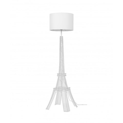 "Euro Style Collection Eiffel Tower 65"" Torchiere Floor Lamp - White"
