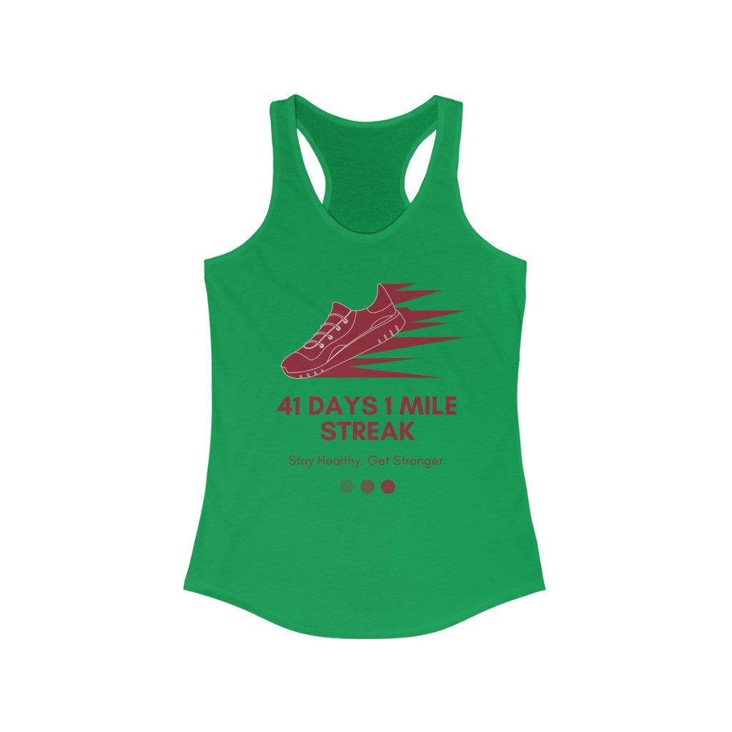 Women's Ideal Racerback Tank for Runner  / Joggers / Walk Streaks