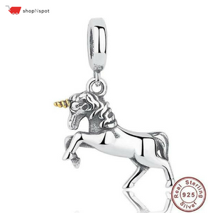 100% 925 Sterling Silver Unicorn Charm Pendant
