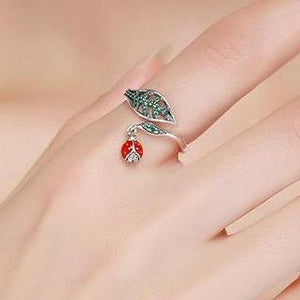 Authentic 925 Sterling Silver Ladybug & Bee Ring