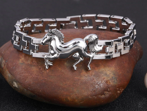 Stainless Steel Horse Bracelet -SALE!