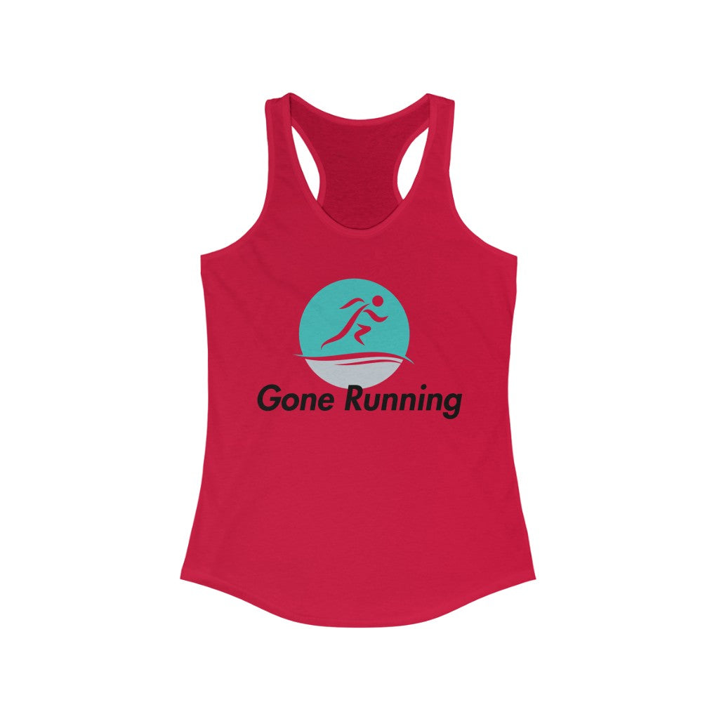 Gone Running Women's Ideal Racerback Tank Top