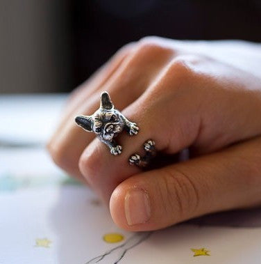 Vintage French Bulldog Ring