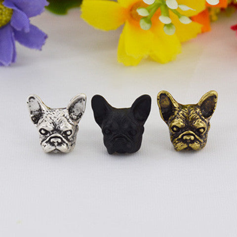 Vintage French Bulldog Pair of Earring