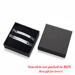 I Love You To The Moon And Back Personalized Couples Bracelets Matching