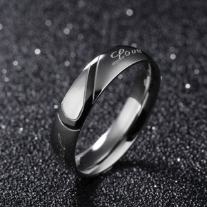 "Heart ""Real Love"" Couple Ring -Buy One Get One FREE!"