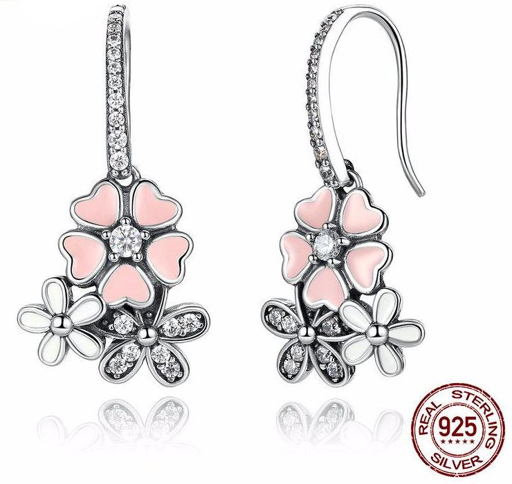 100% 925 Sterling Silver Daisy & Cherry Blossom -SALE! 20% OFF
