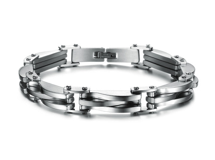 Stainless Steel Infinity Link Chain Men's Bracelet
