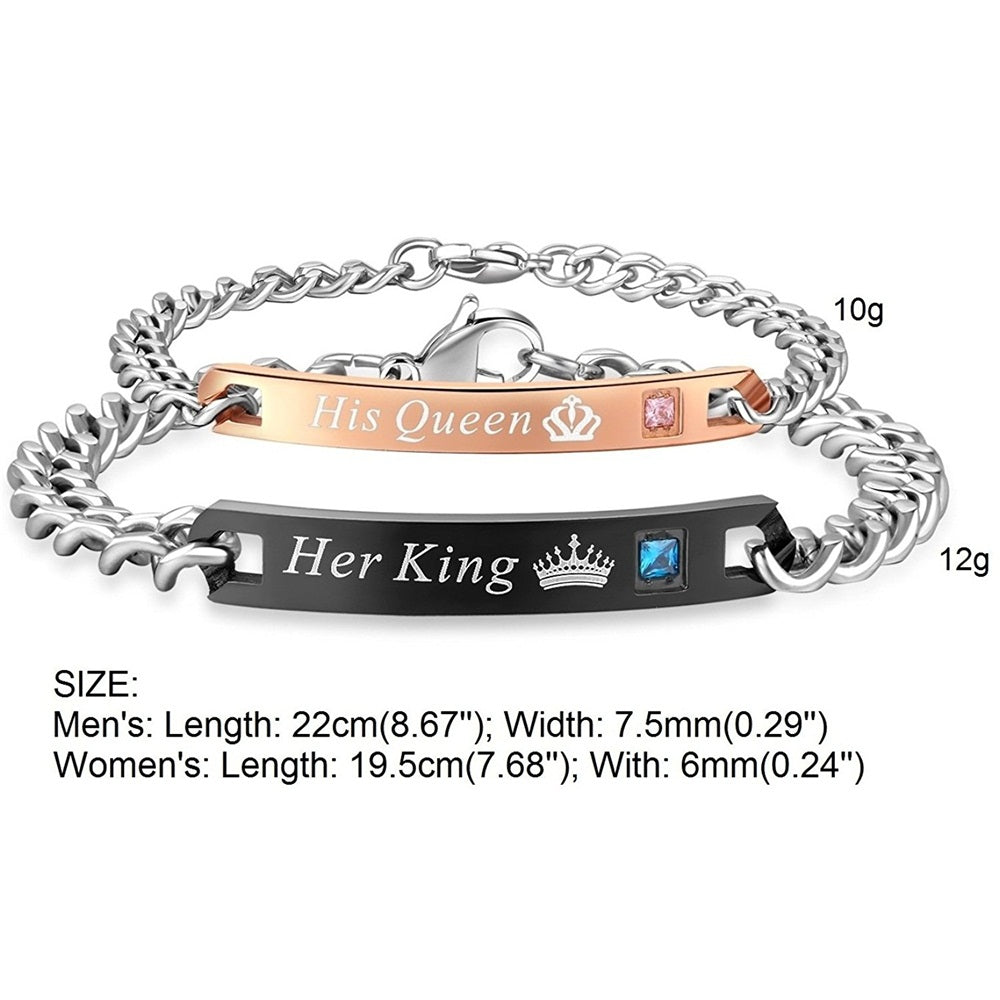 Stainless Steel Couples Bracelet -Giveaway