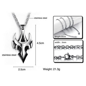 Men's Punk Cross Pendant Stainless Steel Chain Necklace