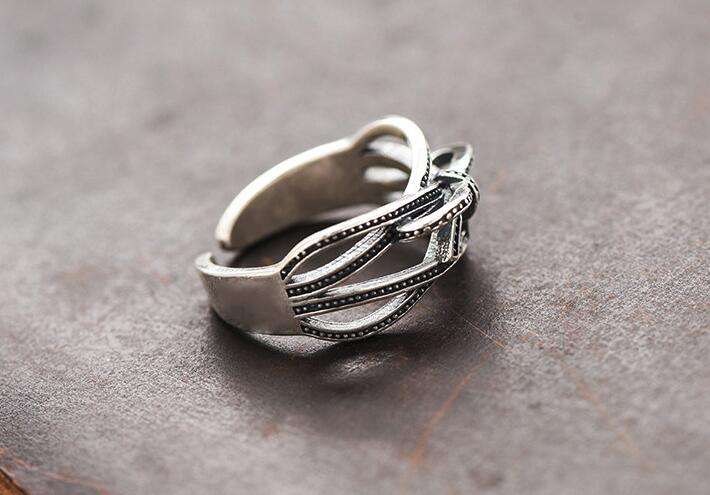 Vintage Silver Ring For Horse Lovers
