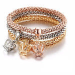 3pc/Set Elastic Charm Bracelet
