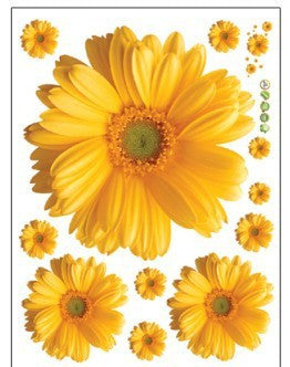 Daisy Flower 3D Vinyl  Wall Stickers