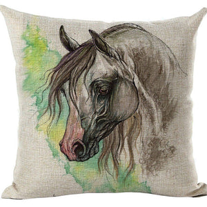 Horse & Rooster Throw Pillowcase -Giveaway