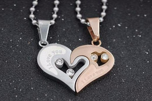 Heart Pendant Necklaces For Couple -Giveaway