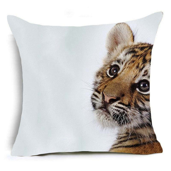 High Definition Polyester Horse & Cat Pillowcase