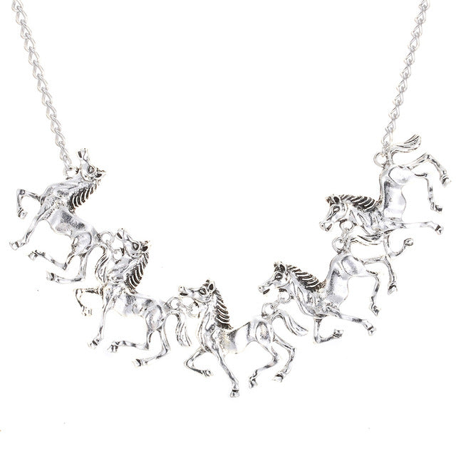 Five Horses Pendant Necklace -Giveaway