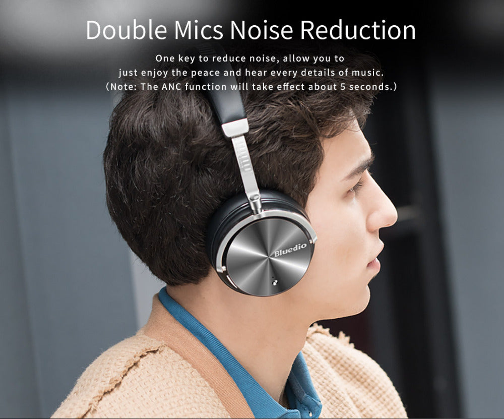Noise Cancelling Wireless Bluetooth Headset with Mic