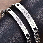 Always And Forever Personalized Couples Bracelets Matching