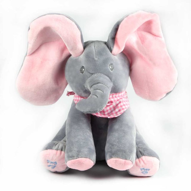 Interactive Sing & Play Elephant Stuffed Toy