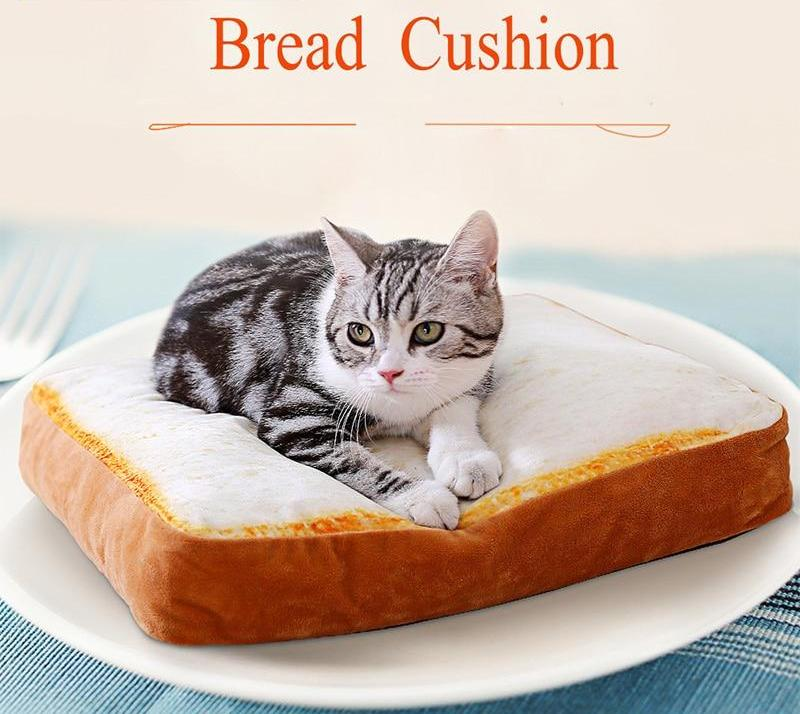 Soft Toast Bread and Poached Eggs Cat/ Dog Pet Blanket Mats
