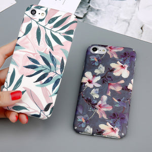 Flower & Leaves Print iPhone Case - 50% OFF