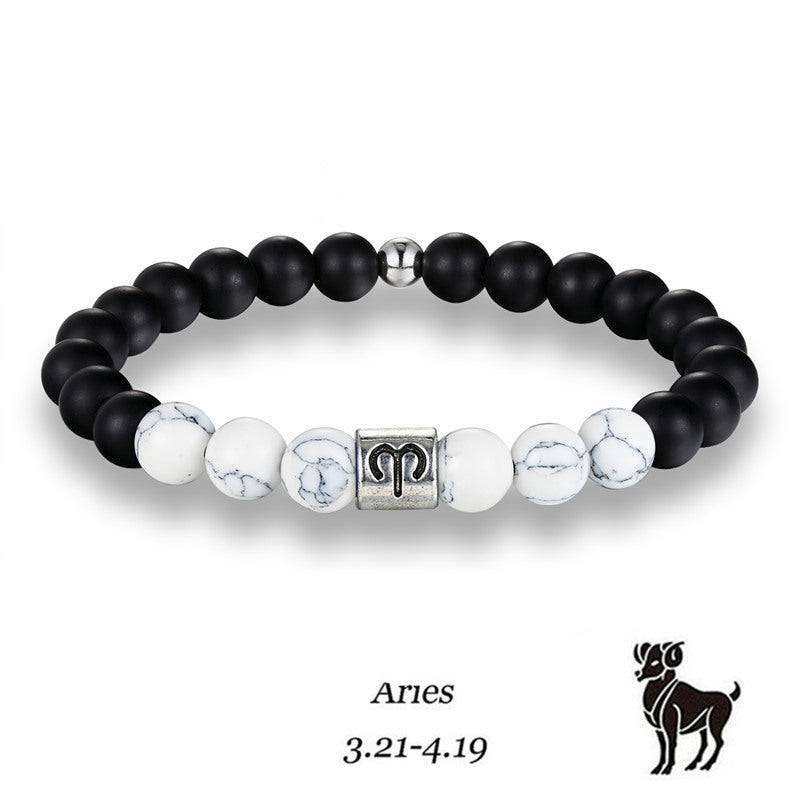 Zodiac Signs Stone Beads Elastic Bracelets - Giveaway