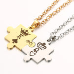 K & Q Puzzle Couples Necklace (Pair)