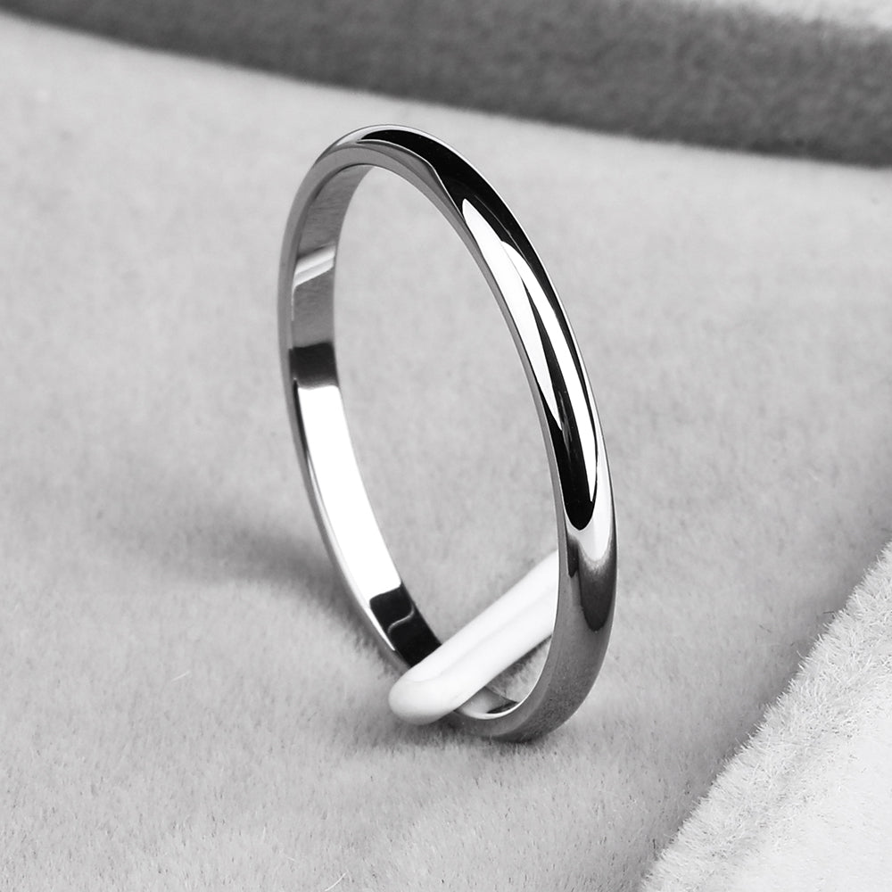 Plain Titanium Steel Couples Rings