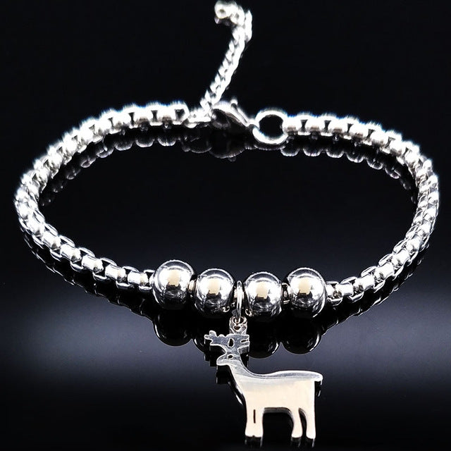 Unicorn/Horse Stainless Steel Charm Bracelet -Giveaway