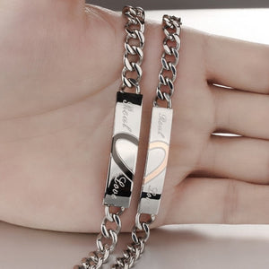 "Heart ""Real Love"" Couples Bracelet"