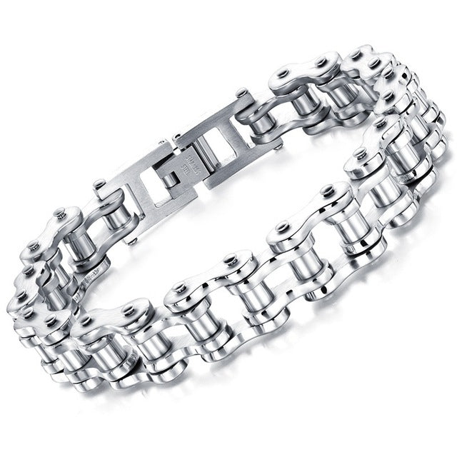 Stainless Steel Men's Biker Chain Bracelets -50% OFF!
