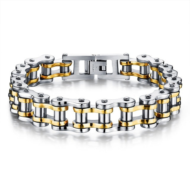 Stainless Steel Men's Bike Chain Bracelet