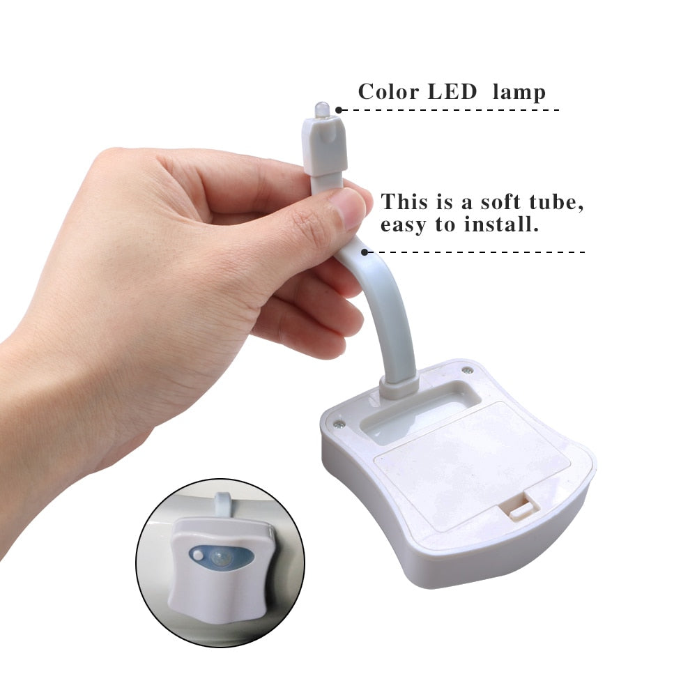 Smart Sensor Toilet Seat LED Nightlight