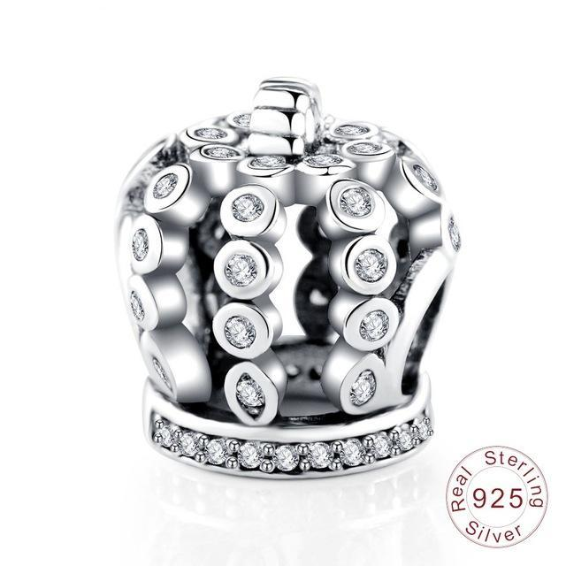 100% Authentic 925 Sterling Silver Floral Charm