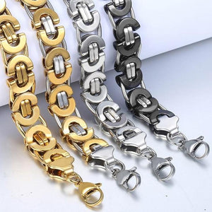 Byzantine Chain Stainless Steel Men's Bracelets