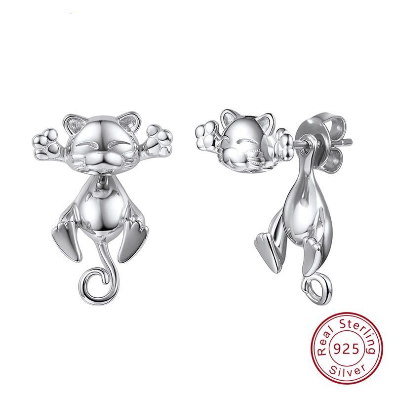 Cute Cat 3D Korean Style Stud Earrings