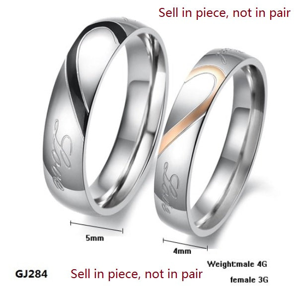 "Heart ""Real Love"" Couple Ring"