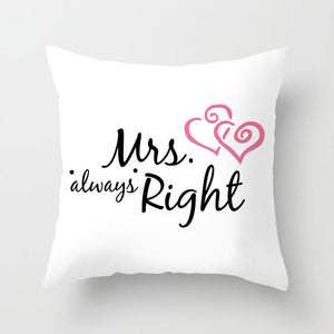 MR. & MRS. Couples Pillowcase For Couples