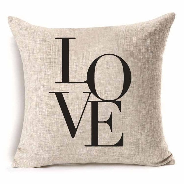 Mr. & Mrs. Love Couples Printed Throw Pillowcase