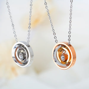 Mother's Ring Pendant Necklace