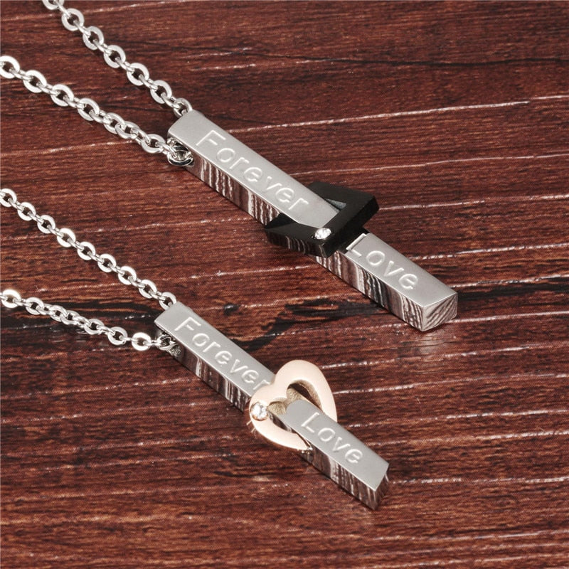Forever Love Pendant Couples Necklaces