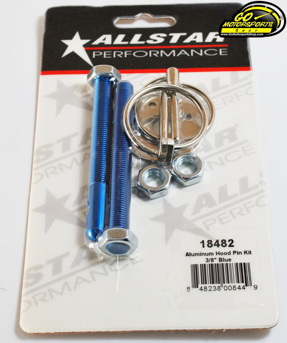 Allstar Aluminum Hood Pin Kit (Blue, Red, Black, Silver)